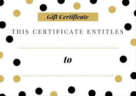 Gift Certificate Printable Free Free Printable Gift Certificate Room Surf Com