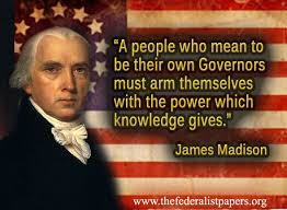 James Madison Quotes Cool James Madison Quote The Power Of Knowledge