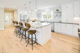 white shaker kitchen cabinets island