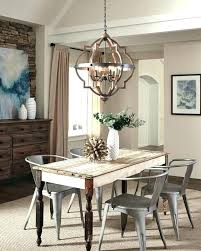 chandelier height above table dining