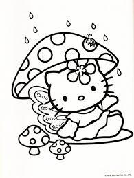 Kleurplaat Hello Kitty Paddenstoel Coloring Pages Hello Kitty