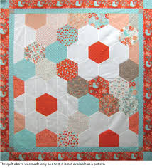 Half Hexagon Test Quilt -- We found that cutting and arranging the ... & Half Hexagon Test Quilt -- We found that cutting and arranging the half- hexagons took a little longer because there were more cuts to make and more  pieces ... Adamdwight.com