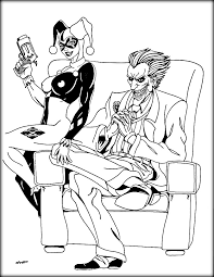 trend harley quinn and the joker coloring pages sensational inspiration ideas
