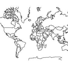 Small Picture World Map for Education Coloring Page World Map for Education