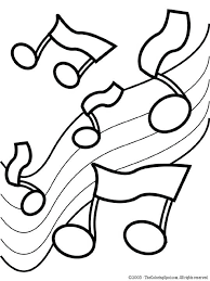 Printable Coloring Worksheets For Kindergarten Music Coloring Pages