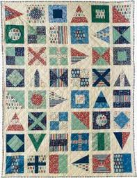 Nautical Flag Quilt in wedding colors | Quilting | Pinterest ... & Are you familiar with the sailboat quilt block ? The pattern has been  around for 80 Adamdwight.com