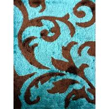 attractive enjoyable brown area rugs x rug addiction hand tufted polyester turquoise and brown area
