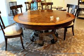 exclusive wooden round expandable dining room table sets