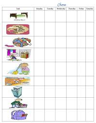 Printable Chore Chart For 5 Year Old 4 Year Old Chore Chart Printable Printable Chore Chart 8