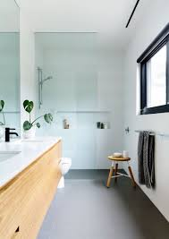 Light Blue And Grey Bathroom Ideas Coastal Modernity On The Mornington Peninsula Mid Century