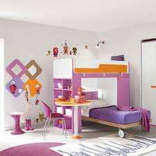modern pink bunk beds with built in
