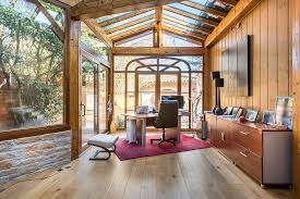 exquisite rustic sunroom that doubles as a quiet home office from alexandre montagne furniture67 furniture
