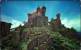 マインクラフト建築 自然の中の城