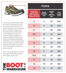 Puma Motorcycle Boots Size Chart 20 Curious Euro Boot Size Chart