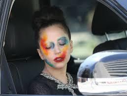 lady a applause makeup rainbow makeup