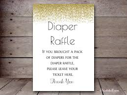 raffle sign bsa gold confetti baby shower games diaper raffle sign good diaper