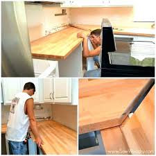 how to install butcher block countertops from ikea counter top installing joining