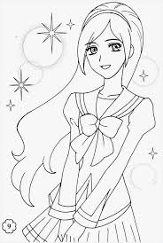 Anime Girl Coloring Pages Lovely Anime Coloring Pages Beautiful