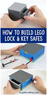 How to Build LEGO Safes with Lock & Key - Frugal Fun For Boys and Girls |  Lego challenge, Lego for kids, Lego activities