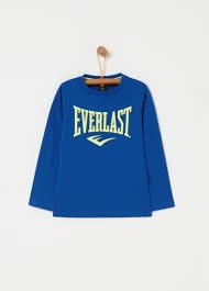 100 Cotton T Shirt With Everlast Print Ovs
