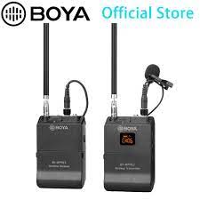 BOYA BY WFM12 VHF kablosuz mikrofon sistemi IOS Android akıllı telefonlar  için, Video dslr, kameralar, ses kayıt cihazları, adet Youtube|Mikrofonlar