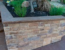 retaining walls and outdoor gardens