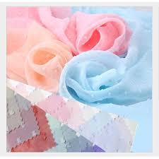 1 <b>Meter</b> Solid Color Drape Georgette <b>Jacquard</b> Chiffon Clothing ...