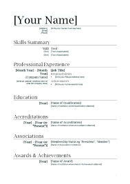 Resumes Templates Online Microsoft Word 2007 Resume Templates Free Download Template Online