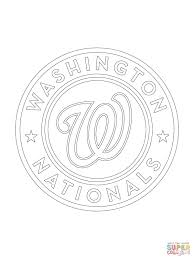 Small Picture Washington Nationals Logo coloring page Free Printable Coloring