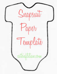 Onesie Template Cathie Filian Snapsuit Decorating Baby Shower Handmade Invitations