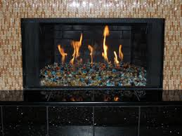 Yellow Amber Fire Pit And Fireplace Glass Stones Rocks