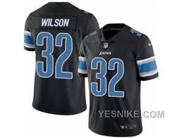 Big Discount 66 Off Mens Nike Detroit Lions 32 Tavon Wilson Elite Black Rush Nfl Jersey