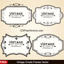 free decorative vine ornate picture frames vector ilration free vector from 123freevectors more free vector graphics