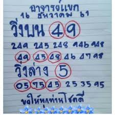 Thai Lottery Chart 2016 Exclusive Thai Lottery 3up Down Tips 16 December 2018