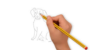 dogs drawings in pencil for kids.  For Dog Drawing With Pencil  Dog Easy How To Draw For Kids On Dogs Drawings In Pencil For Kids W