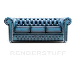 turquoise leather chesterfield sofa