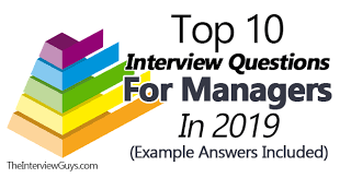 Hr Assistant Interview Questions Top 10 Interview Questions For Managers In 2019 Example