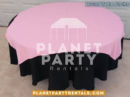 black round tablecloth with overlay 010