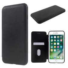 i smile luxury hybrid leather case for iphone 7 plus with card slot black