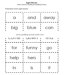 dolch primer sight words flash cards sight words lists
