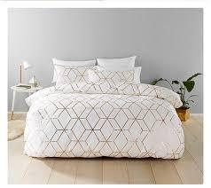 home accessory gold white bedding bedroom bedroom sleep target targetaustralia wheretoget