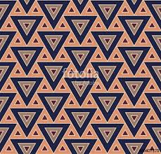 Vector modern seamless colorful pattern triangles blue color