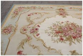 blue ivory w pink rose aubusson area rug free ship wool blush pink area rug 8x10