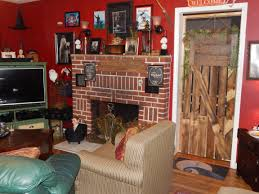 his potter disney themed living room or as he calls it stage 2 stage one is his studio and stage two the decorated dining room features hand crafted