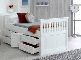captain single bed frame with storage