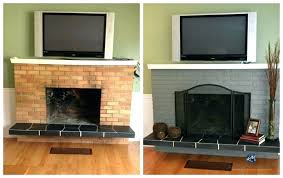 painted brick fireplace colors what color should i paint my brick fireplace the best sheen to