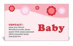 Baby Business Card Template Design Id 0000000915 Smiletemplates Com