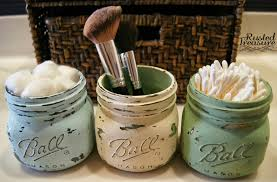 Mason Jar Bathroom Accessories Mason Jar Storage Bath Diy Mason Jar Bathroom Accessories Tsc
