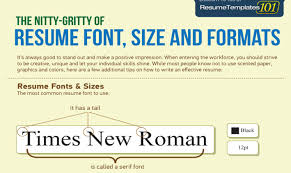 Recommended Font Size For Resume Resume Builder For First Job