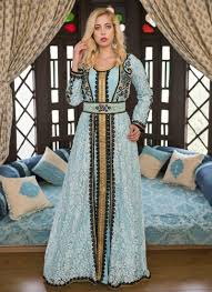 Blue Color Kaftan Crepe Kaftan